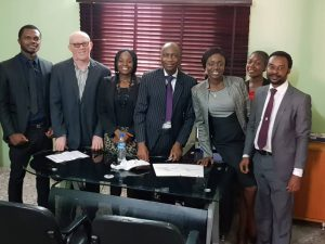 Biodun Adeyemi with Team