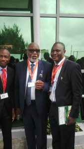 With Akeredolu, Ondo State Governor at a conference